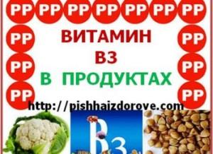 В каких продуктах содержится витамин В 3